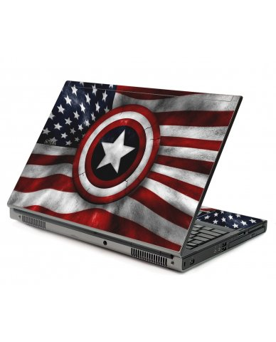 Capt America Flag Dell M6400 Laptop Skin