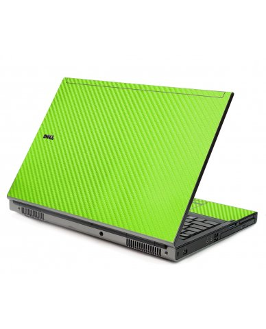 Green Carbon Fiber Dell M6400 Laptop Skin