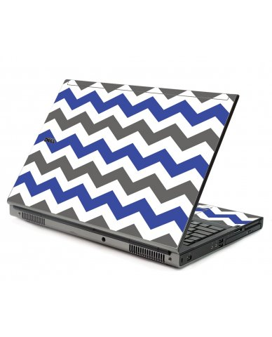 Grey Blue Chevron Dell M6400 Laptop Skin
