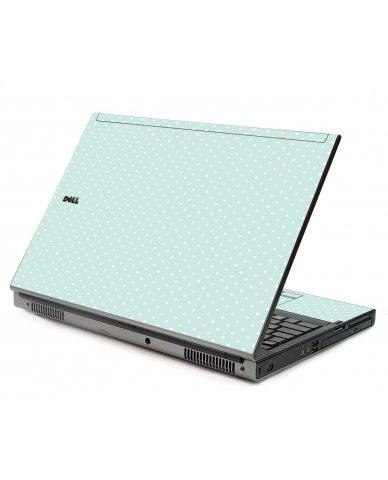 Light Blue Polka Dell M6400 Laptop Skin