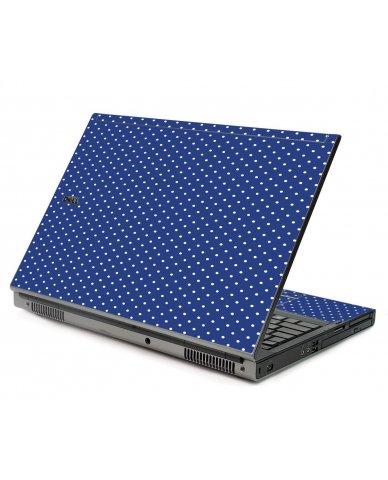 Navy Polka Dot Dell M6400 Laptop Skin