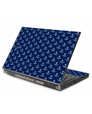 Navy White Anchors Dell M6400 Laptop Skin