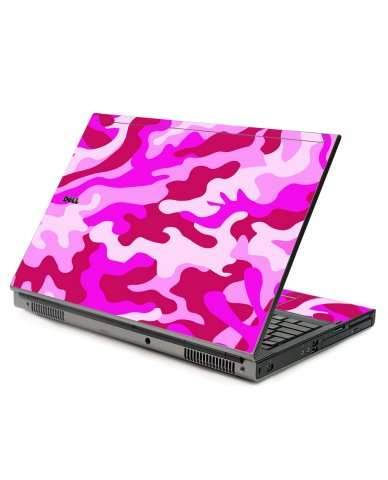 Pink Camo Dell M6400 Laptop Skin