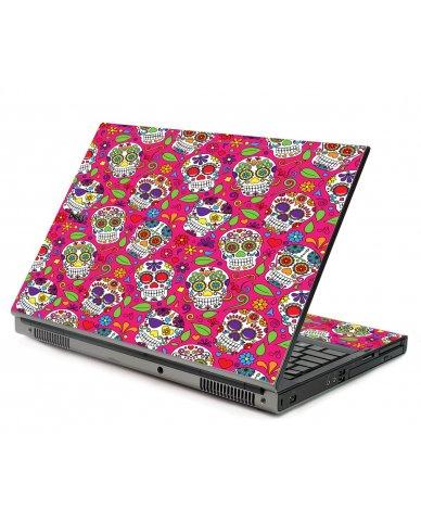 Pink Sugar Skulls Dell M6400 Laptop Skin