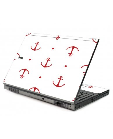 Red Anchors Dell M6400 Laptop Skin