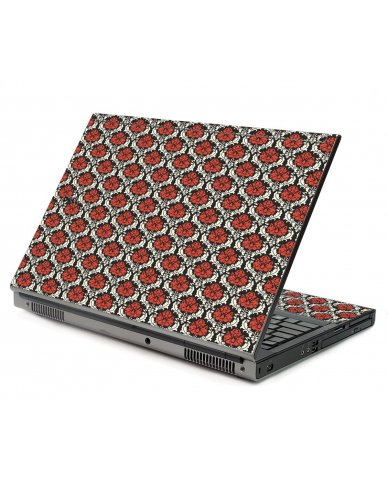 Red Black 5 Dell M6400 Laptop Skin
