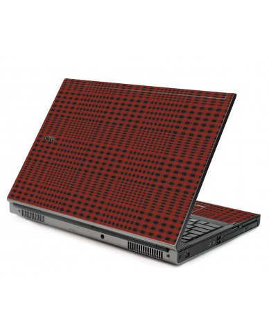 Red Flannel Dell M6400 Laptop Skin