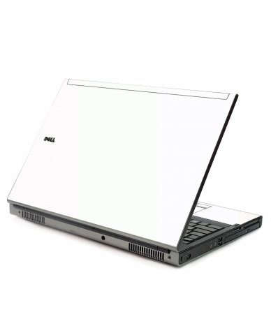 White Dell M6400 Laptop Skin