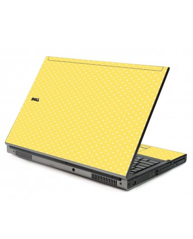 Yellow Polka Dot Dell M6400 Laptop Skin