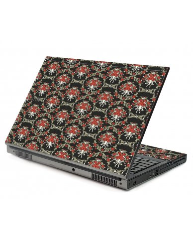 Flower Black Versailles Dell M6500 Laptop Skin