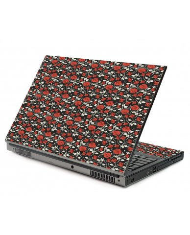 Black Red Roses Dell M6500 Laptop Skin