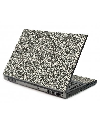 Black Versailles Dell M6500 Laptop Skin