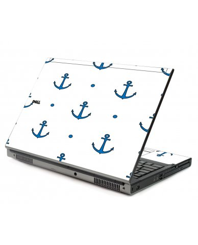 Blue Anchors Dell M6500 Laptop Skin