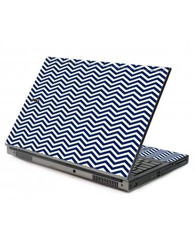 Blue Wavy Chevron Dell M6500 Laptop Skin
