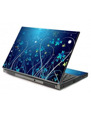 Blue Flowers Dell M6500 Laptop Skin
