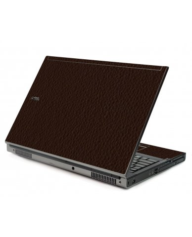 Brown Leather Dell M6500 Laptop Skin