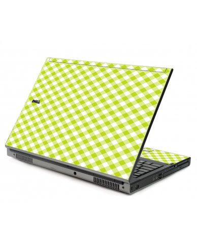 Green Checkered Dell M6500 Laptop Skin