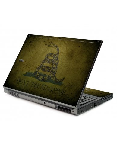 Green Don't Tread On Me Dell M6500 Laptop Skin
