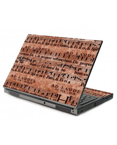 Latin Sheet Music Dell M6500 Laptop Skin