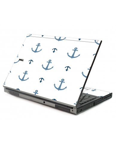 Multi Blue Anchors Dell M6500 Laptop Skin