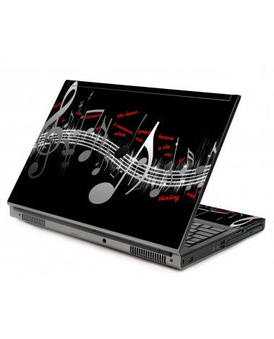 Music Notes Dell M6500 Laptop Skin
