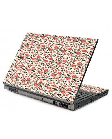 Pink Black Roses Dell M6500 Laptop Skin