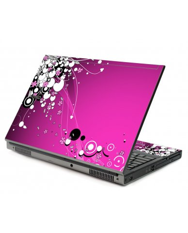 Pink Flowers Dell M6500 Laptop Skin