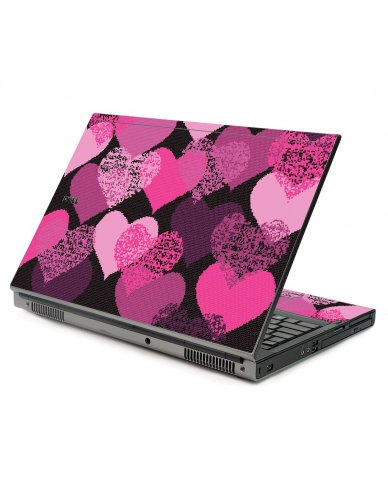 Pink Mosaic Hearts Dell M6500 Laptop Skin