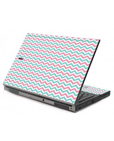 Pink Teal Chevron Waves Dell M6500 Laptop Skin