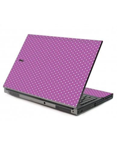 Purple Polka Dot Dell M6500 Laptop Skin