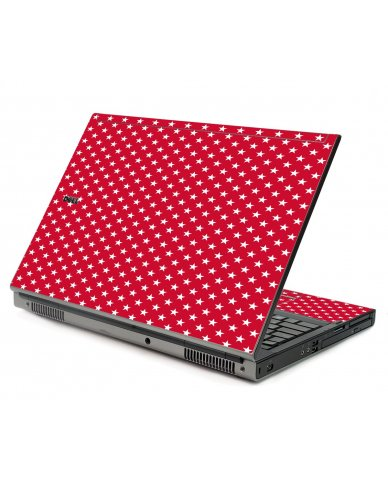 Red White Stars Dell M6500 Laptop Skin
