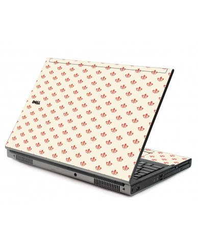 White And Pink Versailles Dell M6500 Laptop Skin