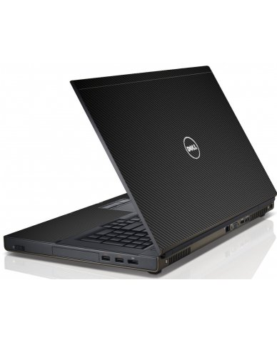 Black Carbon Fiber Dell M6600 Laptop Skin