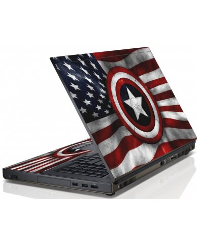 Capt America Flag Dell M6600 Laptop Skin