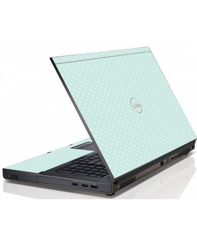 Light Blue Polka Dell M6600 Laptop Skin