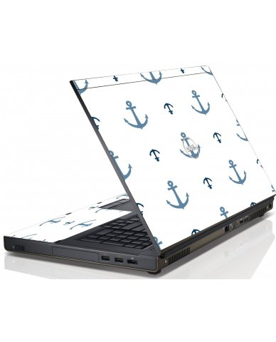 Multi Blue Anchors Dell M6600 Laptop Skin