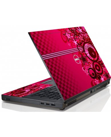 Pink Grunge Stars Dell M6600 Laptop Skin