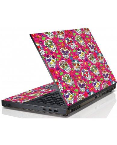 Pink Sugar Skulls Dell M6600 Laptop Skin