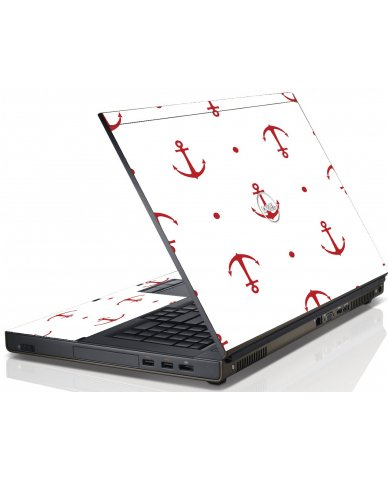 Red Anchors Dell M6600 Laptop Skin