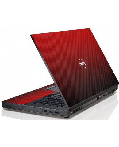 Red Carbon Fiber Dell M6600 Laptop Skin