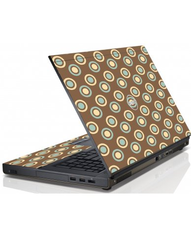 Retro Polka Dot Dell M6600 Laptop Skin
