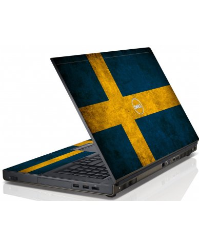 Swedish Flag Dell M6600 Laptop Skin