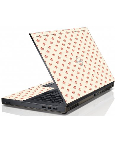 White And Pink Versailles Dell M6600 Laptop Skin
