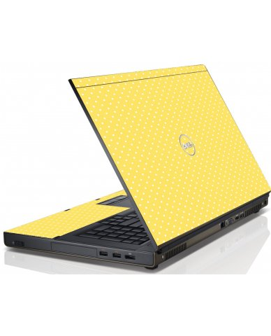 Yellow Polka Dot Dell M6600 Laptop Skin