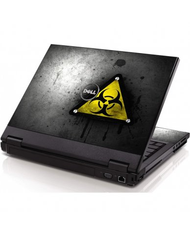 Black Caution Dell 1320 Laptop Skin