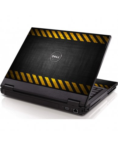 Black Caution Border Dell 1320 Laptop Skin