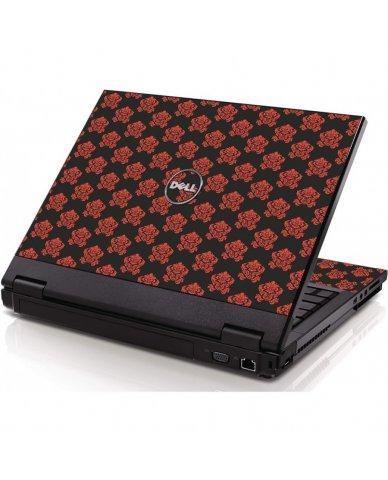 Black Flower Burst Dell 1320 Laptop Skin