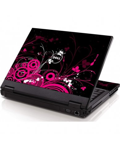 Black Pink Butterfly Dell 1320 Laptop Skin