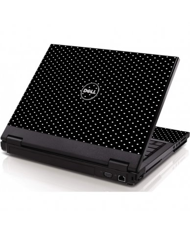 Black Polka Dots Dell 1320 Laptop Skin