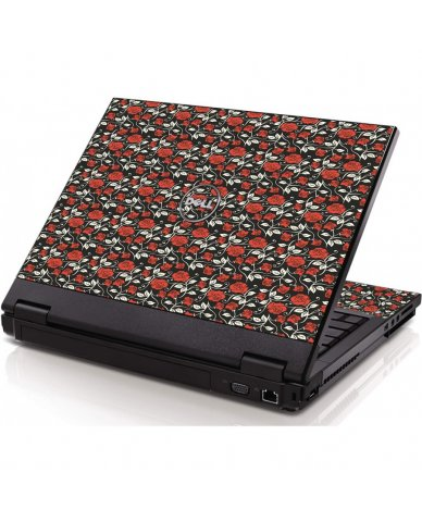 Black Red Roses Dell 1320 Laptop Skin